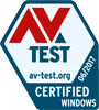 AV-Test with a perfect score of 6/6 in 3 categories