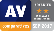 Advanced d'AV-Comparatives pour le test de protection contre les logiciels malveillants