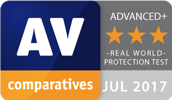 Real-World-Protection Kategorie von AV-Comparatives