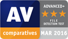 AV Comparatives award, March 2016 - File Detection Test