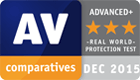 AV Comparatives award, December 2015 - Real World Protection Test