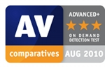 Advanced+ für Avira AntiVir Premium im Test von AV-Comparatives, August 2010