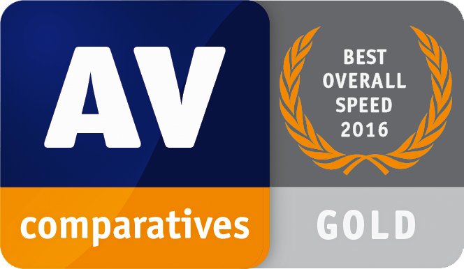 AV Comparatives Best Overall Speed Gold 2016