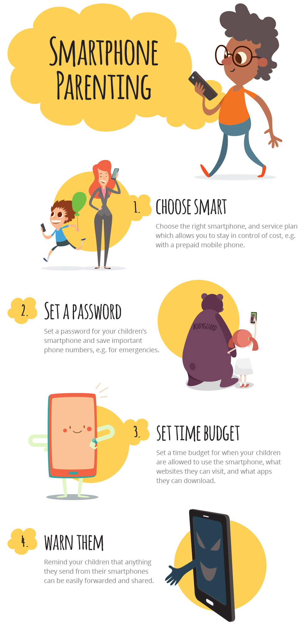 Avira Infographic - Smartphone Tips for Parents and Kids