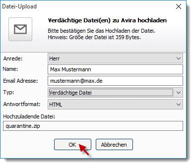 avira-antivirus-pro_quarantäne_verdächtige-datei-versenden_datei-upload_de