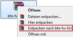 Datei entpacken