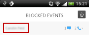 Avira Antivirus Security - Blocked events - Details