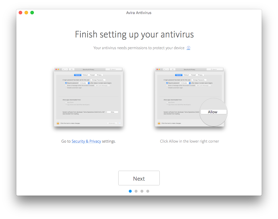 How do I setup Avira Antivirus on macOS 10 14 Mojave?