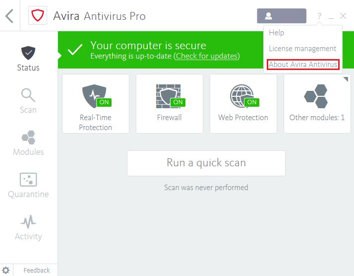 Avira antivirus 2009 download.