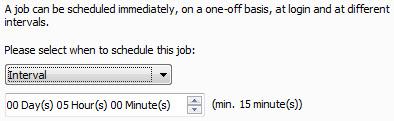 Avira Scheduler - schedule job - time - Interval