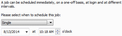 Avira Scheduler - schedule job - time - Single