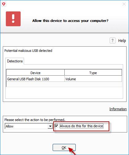 Flash drive antivirus software