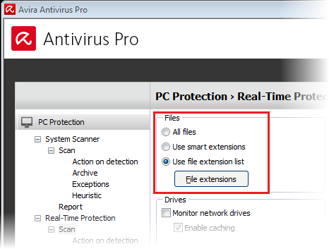 avira real time protection turned off