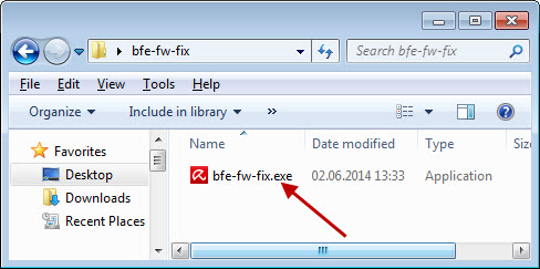 Explorer - Execute file