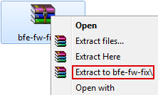 Extract to bfe-fw-fix