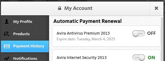 automatic renewal premium off, isec on