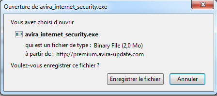 Ouverture d'avira_internet_security.exe