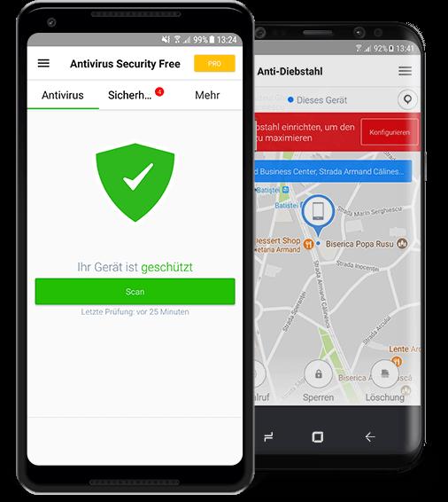 Free antivirus app f r android herunterladen avira for Antivirus per android gratis