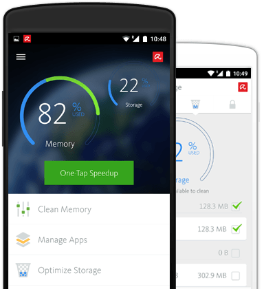 Avira Android Optimizer on mobile device