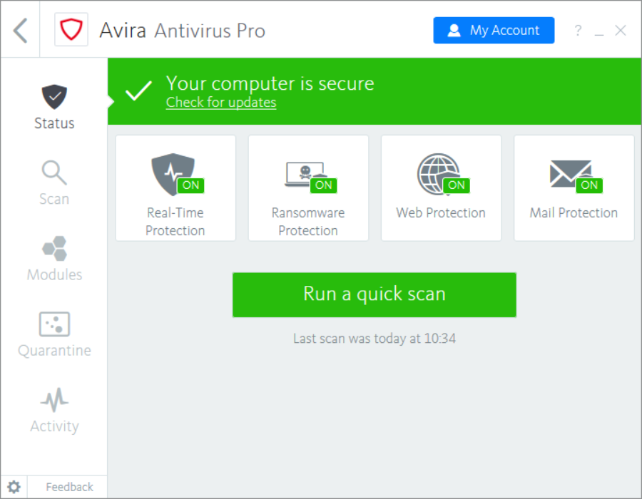 Download Antivirus Pro 2018 For Windows Amp Mac Avira