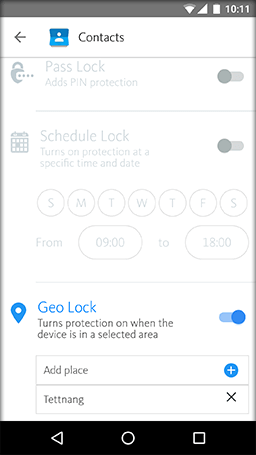 Geo Lock - settings