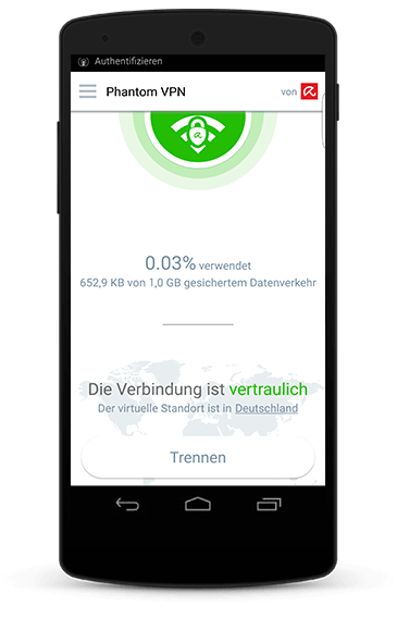 Avira Phantom VPN Android Screenshot