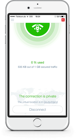 Avira Phantom VPN iOS Screenshot