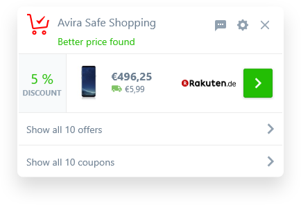 Find the right deal - Avira Safe Shopping