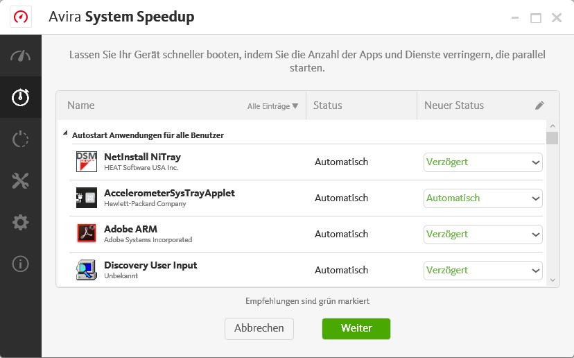 Avira System Speedup Pro Pc Optimierung Registry Cleaner Avira