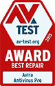 AV Test, February 2016 - Best Repair Award