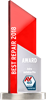Ranked best antivirus in the industry for our repair capabilities