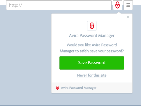 Avira Password Manager - Password Locked