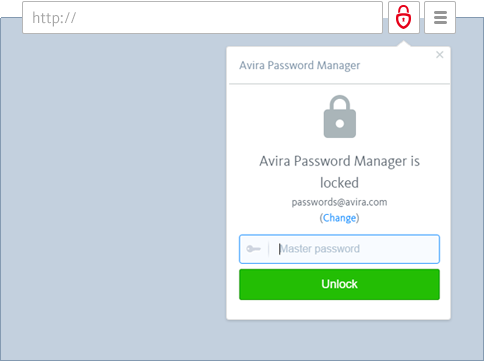Avira Password Manager - Sign In