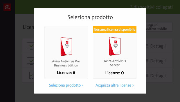Gestione delle licenze