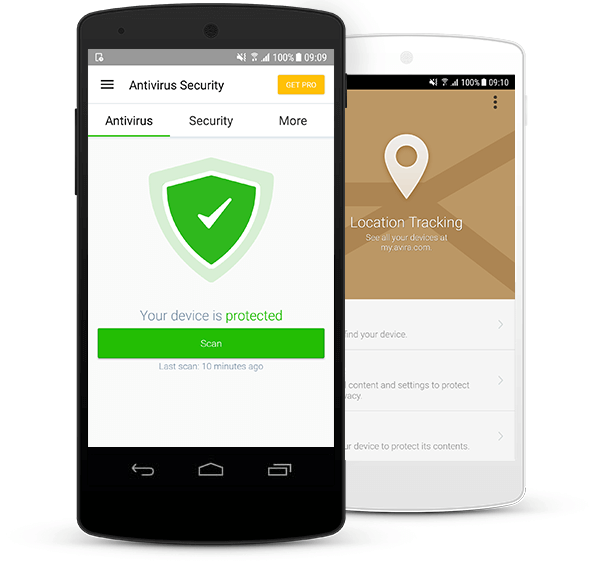 Mobile devices secured by Avira