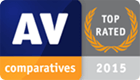 AV Comparatives award, 2015 - Top Rated