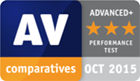 AV Comparatives award, October 2015 - Performance Test