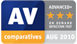 AV Comparatives | August 2010 | Advanced+ award