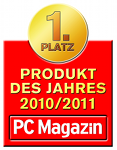 PC Magazin: 'product of the year 2010/2011' in the category 'security-software provider'