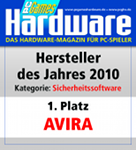 "PC Games Hardware: ""Produtor do ano de 2010"" na categoria ""software de segurança"""