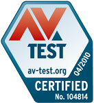 Logo AV-Test.org: Certificação Avira Premium Security Suite