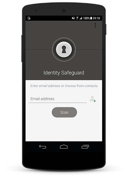 Avira Identity Safeguard on mobile device