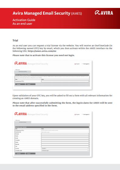 Avira Managed Email Security