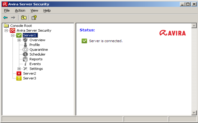 Click to view Avira Server Security 12.0.0.2272 screenshot