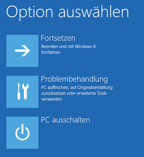 win 8 advanced boot options