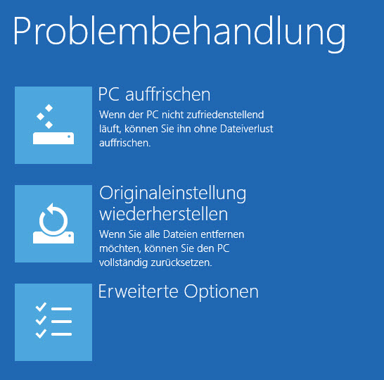 win8 troubleshoot