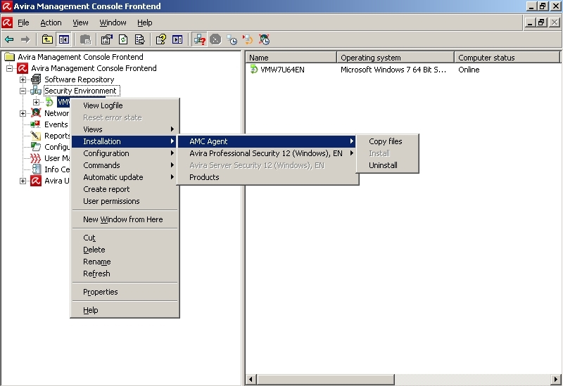 Avira Management Console- Security Environment - Installation