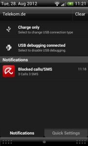Avira Free Android Security - Blocked events