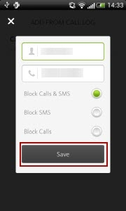 Avira Antivirus Security - block contact - check contact details