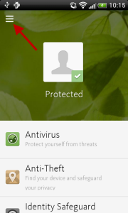 Avira Antivirus Security - Menu icon